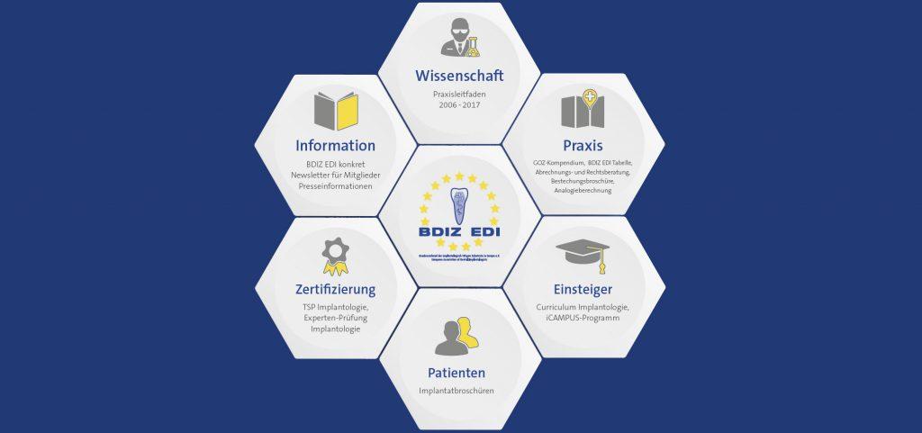 Liestungsbereiche des BDIZ EDI