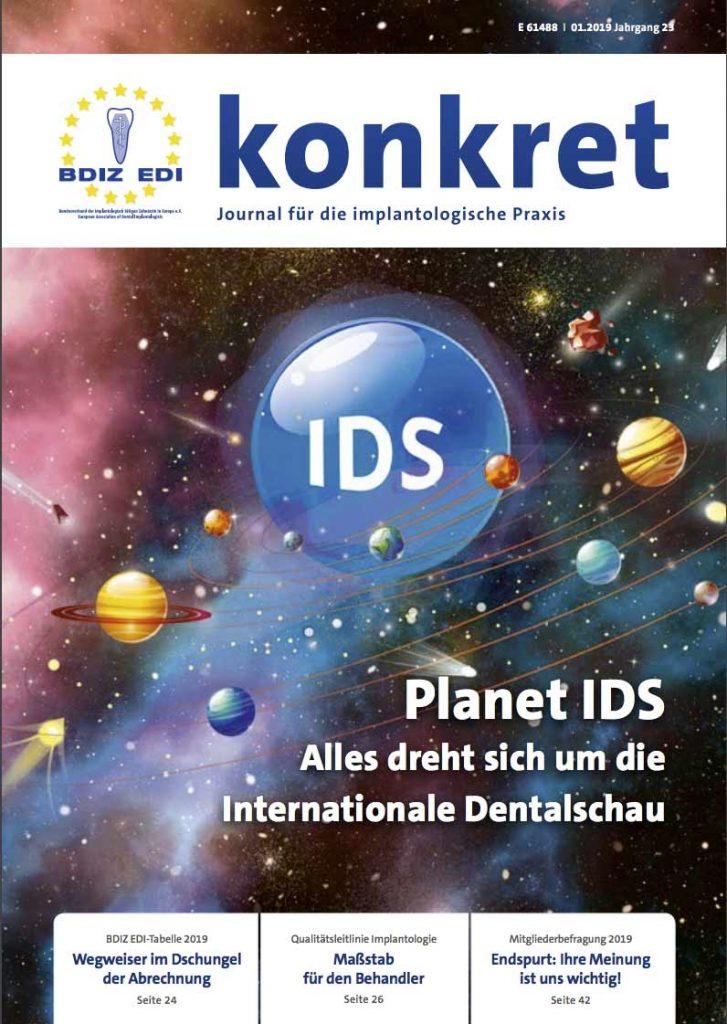 Cover BDIZ EDI konkret 2019/01