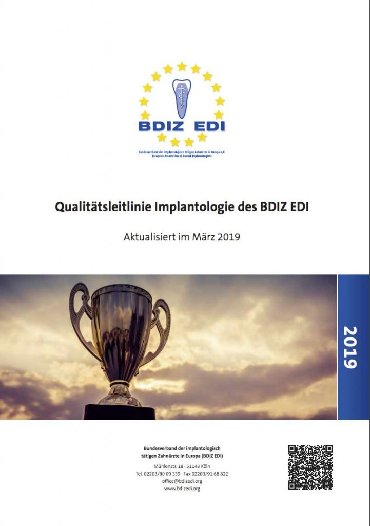 Qualitätsleitlinie Implantologie Cover